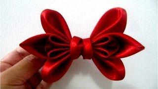 getlinkyoutube.com-Moños dos pétalos en cintas para el cabello