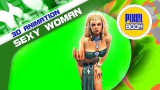 getlinkyoutube.com-Green Screen Sexy Odalisque Woman Sinuous Sultan - Footage PixelBoom