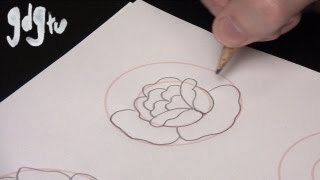 getlinkyoutube.com-How to Draw Basic Traditional Rose Tattoo Designs by a Tattoo Aritist