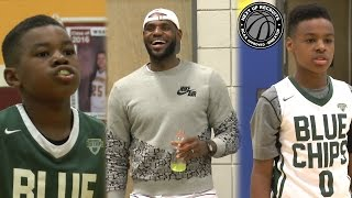 getlinkyoutube.com-LeBron James cheers on sons to Buckeye Prep championship!!! Bryce & Bronny BALL OUT in Columbus
