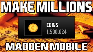Make MILLIONS of EASY Coins in Madden Mobile 16!!!