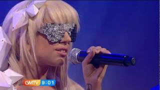 getlinkyoutube.com-Lady Gaga - Just Dance Live @ (GMTV)