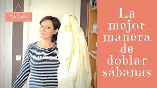 Doblar sábanas y ahorra espacio en el armario