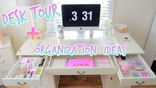getlinkyoutube.com-Desk Tour - How To Organize Your Desk