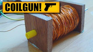 getlinkyoutube.com-Coilgun : DIY Experiments [#1] Gauss rifle / homemade coilgun / DIY weapon / Electric gun