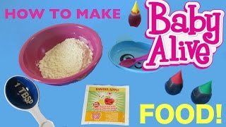 getlinkyoutube.com-BABY ALIVE How to make BABY ALIVE FOOD💕