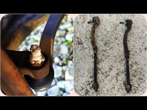 Замена рулевых наконечников и рулевых тяг Renault Scenic, Megane, Laguna без подъемника