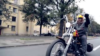 getlinkyoutube.com-Chopper Harley EVO  (With Suicide Clutch)