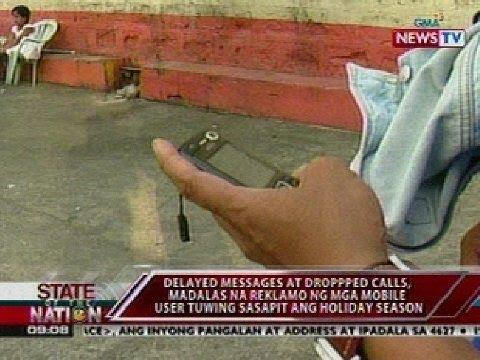 na reklamo ng mga mobile user tuwing sasapit ang holiday season