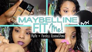 getlinkyoutube.com-Maybelline Fit Me Matte + Porless Foundation (FULL REVIEW & DEMO)