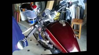 getlinkyoutube.com-Transformation Yamaha 125 virago bobber.