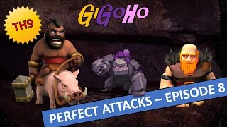 getlinkyoutube.com-Clash of Clans - PERFECT ATTACKS for 3 stars TH9