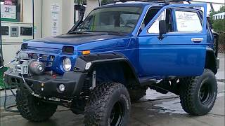 getlinkyoutube.com-GREECE LADA NIVA EXTREME-transformation a MERCEDES to NIVA