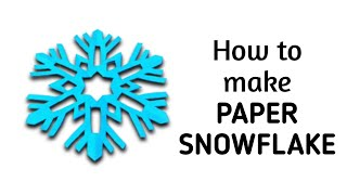 getlinkyoutube.com-How to make a kirigami paper snowflake - 2 | Kirigami / Paper Cutting Craft, Videos and Tutorials.