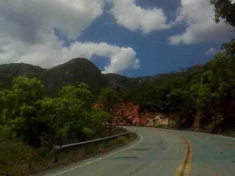 Saída de Livramento de Nossa Senhora/BA em direção a Rio de ContasBA, pela Via Verde.