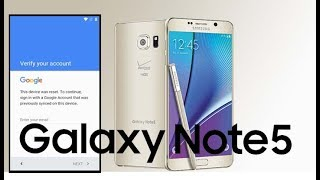 getlinkyoutube.com-Samsung Galaxy Note 5 Bypass Remove Google Account Lock Frp 2017