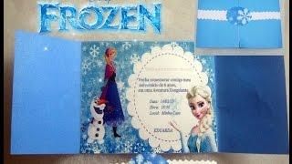 getlinkyoutube.com-Faça Você mesmo Convite Festa Tema Frozen
