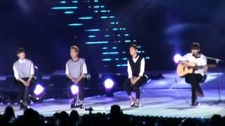 """getlinkyoutube.com-[Music Bank in Hanoi] Fancam EXO hát """"người ấy"""", và dàn MC"""
