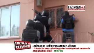Erzincan'da Terör Operasyonu: 4 Gözaltı