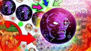 getlinkyoutube.com-Agar.io - BRUTAL FAILS IN AGARIO! + KING HACKER BAITS TO NUMBER 1! THUNDER SPLITS! (Agario)