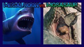 getlinkyoutube.com-Jurassic World Megalodon vs. Mosasaur
