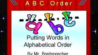 Putting Words in Alphabetical Order:  It's EASY!