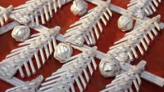 getlinkyoutube.com-Новогодняя гирлянда из ёлочек