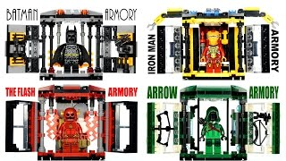 getlinkyoutube.com-Iron Man Batman CW's Arrow & The Flash Armory Tech Gear Capsule Unofficial LEGO KnockOff Set 2