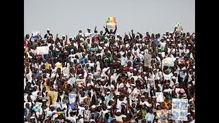 Combat Bombardier vs Euemeu Sene , Ambiance stade avec les supporters
