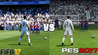 getlinkyoutube.com-FIFA 17 vs. PES 17: Free Kicks