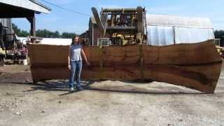 getlinkyoutube.com-Sawing wide slabs from a 20,000 lb log
