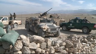 Afghan Army Fights Extremists Near Border with Pakistan width=