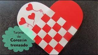 getlinkyoutube.com-Tarjeta de corazón trenzado de papel para el día de San Valentín