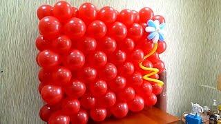getlinkyoutube.com-Панно из четверок воздушных шаров