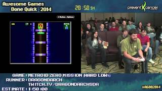 getlinkyoutube.com-Metroid: Zero Mission :: SPEED RUN (1:09:56) (Hard Low%) by Dragondarch #AGDQ 2014 [GB Player]