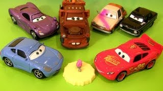 getlinkyoutube.com-6 New Cars 2 Airport Mater, Lightning McQueen & Sally, Tubbs Pacer Paint Spray, Tolga Trunkov 2013