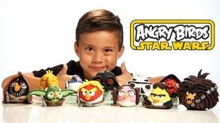 getlinkyoutube.com-Angry Birds STAR WARS CLAY MODELS - All NEW EPIC Figures! Sculpey