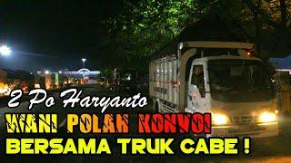 SENGIT ! TRUK CABE PERUSAK KONVOI 2 BUS PO HARYANTO   Trip Truk Cabe Asli Wonogiri!