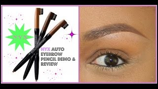 getlinkyoutube.com-NYX Auto Eyebrow Pencil Demo & Review Perfect Brows Tutorial