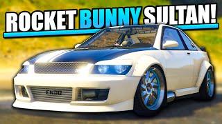 getlinkyoutube.com-GTA 5 New Custom Cars DLC - Sultan Customisation & Drive - ROCKET BUNNY!