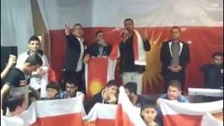 getlinkyoutube.com-حجي قيراني في دورتموند /هذا اول بيت الايزيدية يرفع علم ايزيدخان .