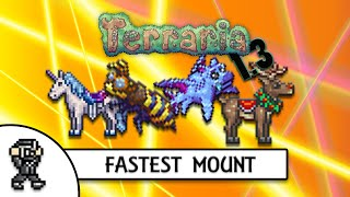 getlinkyoutube.com-Terraria 1.3 FASTEST MOUNT (TOP SPEED) - ALL MOUNT SPEED COMPARISON - MAX STATS