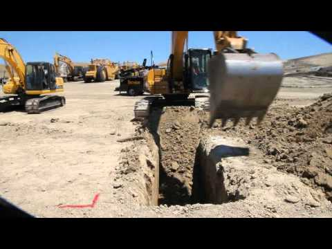Cat 320D Excavator Trenches in Dublin, CA