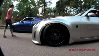 getlinkyoutube.com-Nissan 350Zs BRG Slammage at 512 Project
