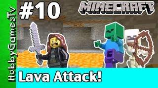 getlinkyoutube.com-Minecraft Trixie 10 Lava Attack HobbyGamesTV