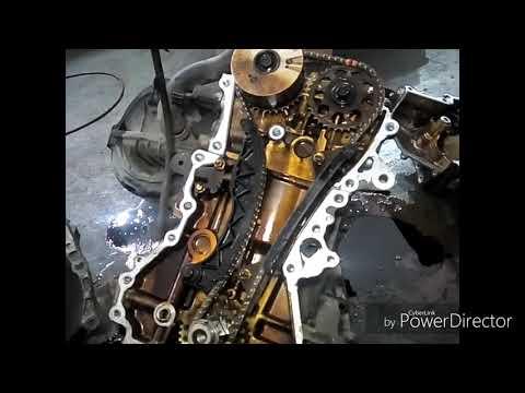 Установочные метки ГРМ Тойота Ярис с двигателем 1.0 1KRFE