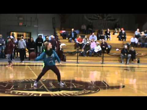 Women's Lacrosse's Megan Raposa Takes Half-Court Shot