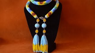 getlinkyoutube.com-Жгут из бисера.  Бисероплетение.  Вязание жгута из бисера крючком. Мастер Класс / Wiring of beads