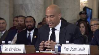 getlinkyoutube.com-Sen. Cory Booker Testifies Against Sen. Jeff Sessions