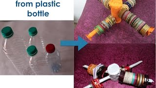 getlinkyoutube.com-Upcycling plastic bottles - 1) DIY Bangle stand/jewellery stand from plastic bottles